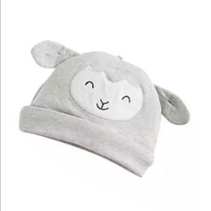 ⚠️Carter's newborn lamb gray white beanie hat cap